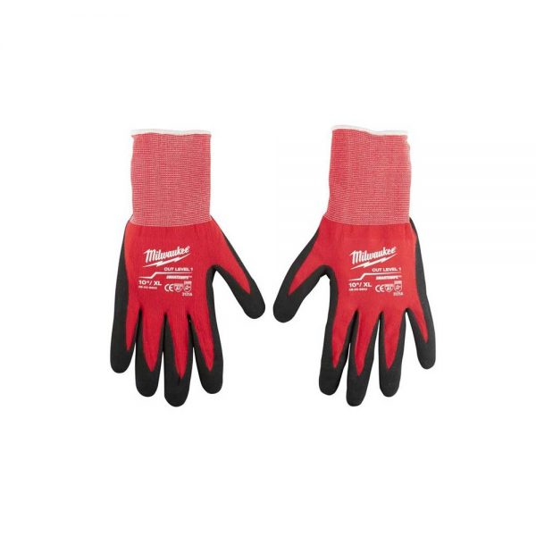 Milwaukee XL 'Cut Level 1' Dipped Gloves (Pack of 12)